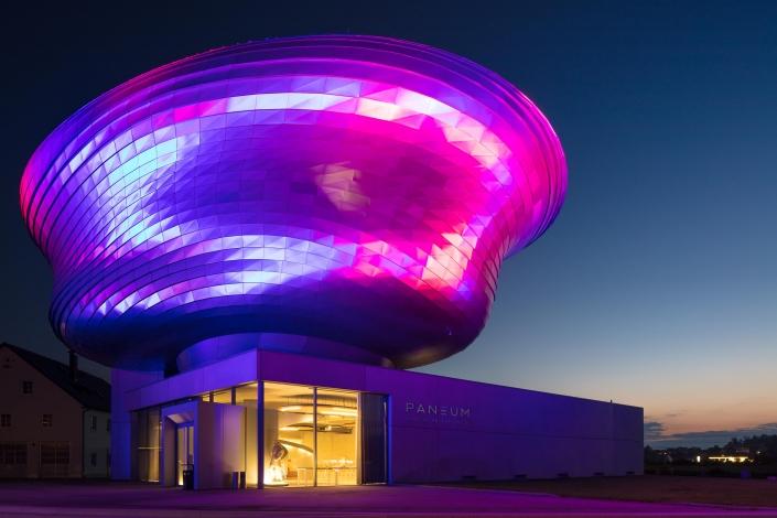 Architekturfotograf Linz PANEUM - Wunderkammer des Brotes Abendstimmung